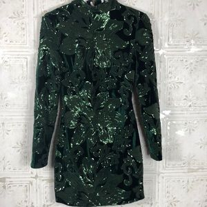 House of CB London | Green Sequin Dress